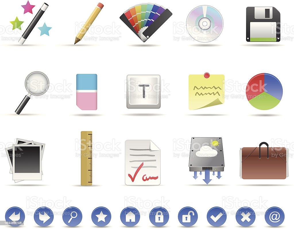 Productivity Icon Set royalty-free stock vector art