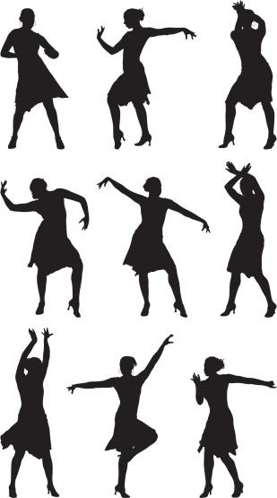 Professional dancer performing dance