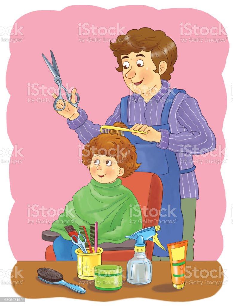 Ilustración De Profesiones Ilustración Para Los Niños Página Para