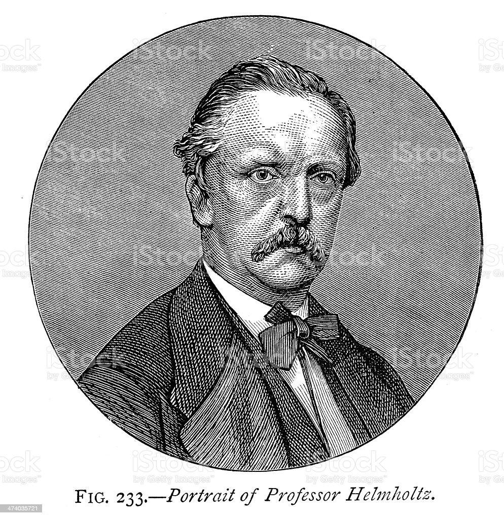 Professor Hermann von Helmholtz vector art illustration