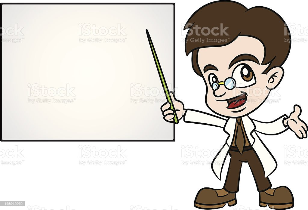 Professor Teaching With PointerStick royalty-free stock vector art