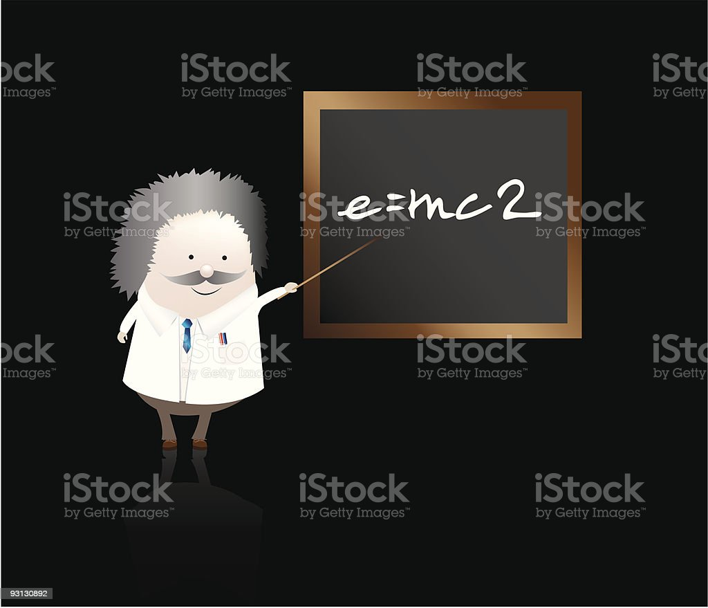professor with equation royalty-free stock vector art