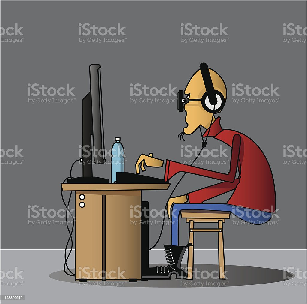 Programmer royalty-free stock vector art