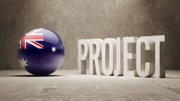 project concept - target australia stock illustrations