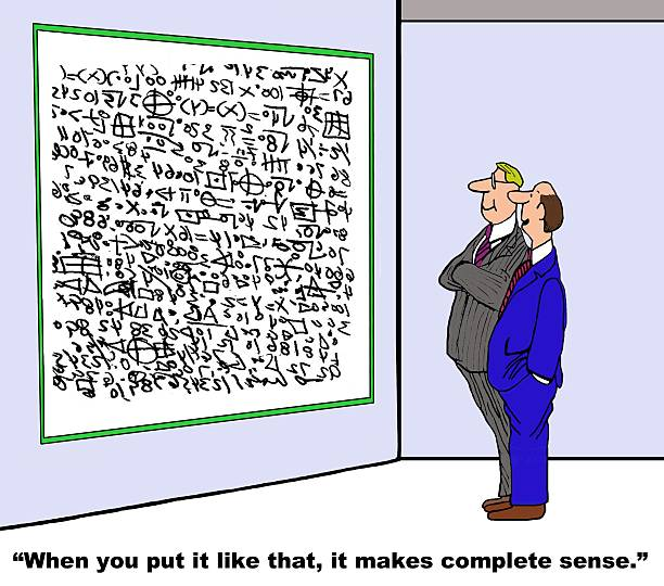 32 Cartoon Of Complicated Math Formulas Illustrations & Clip Art - iStock