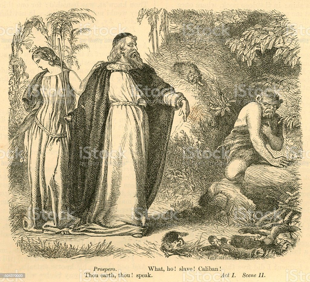 relationship between prospero caliban and ariel in Ariel flies away and prospero awakens miranda, telling her that they are about to visit his other slave, caliban, a disfigured and savage offspring of the dead witch, sycorax despite prospero's attempts to tame him, caliban has remained wide and barbaric, and has even attempted to rape miranda.