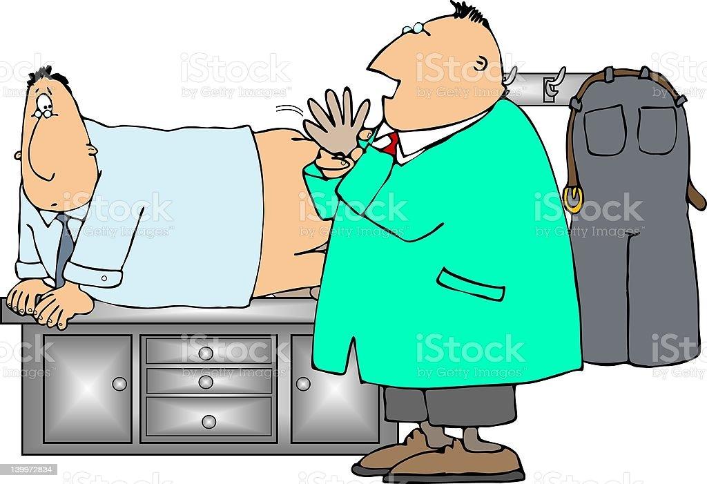dedo de examen de próstata