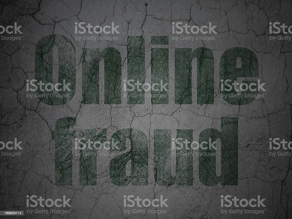 Protection concept: Online Fraud on grunge wall background royalty-free stock vector art