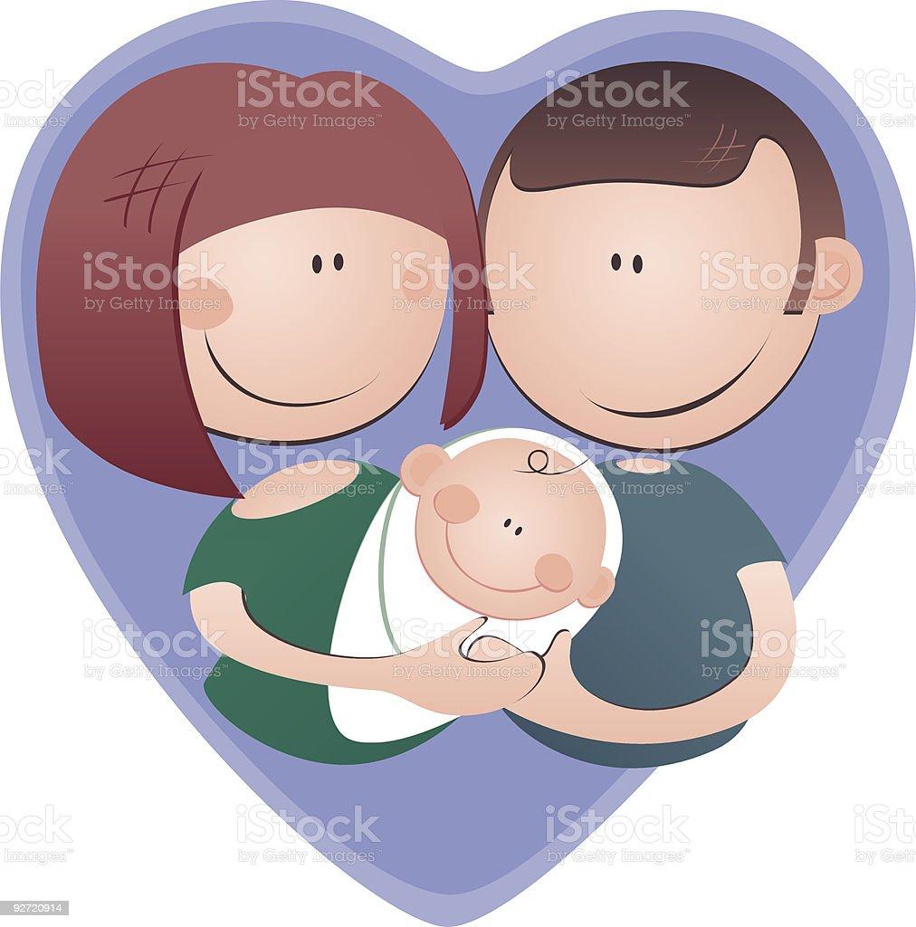 proud new parents royalty-free stock vector art