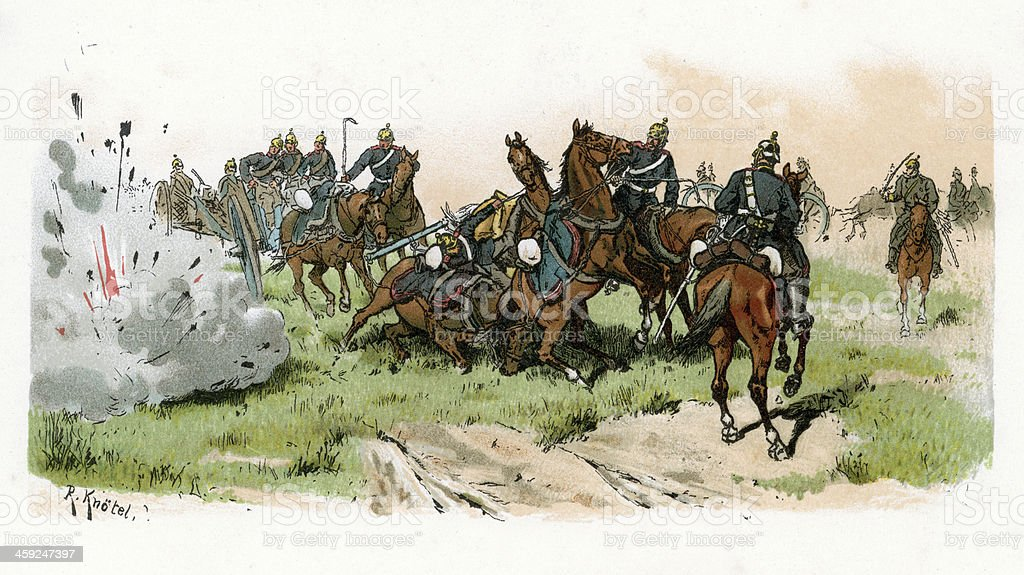 Prussian Artillery royalty-free stock vector art