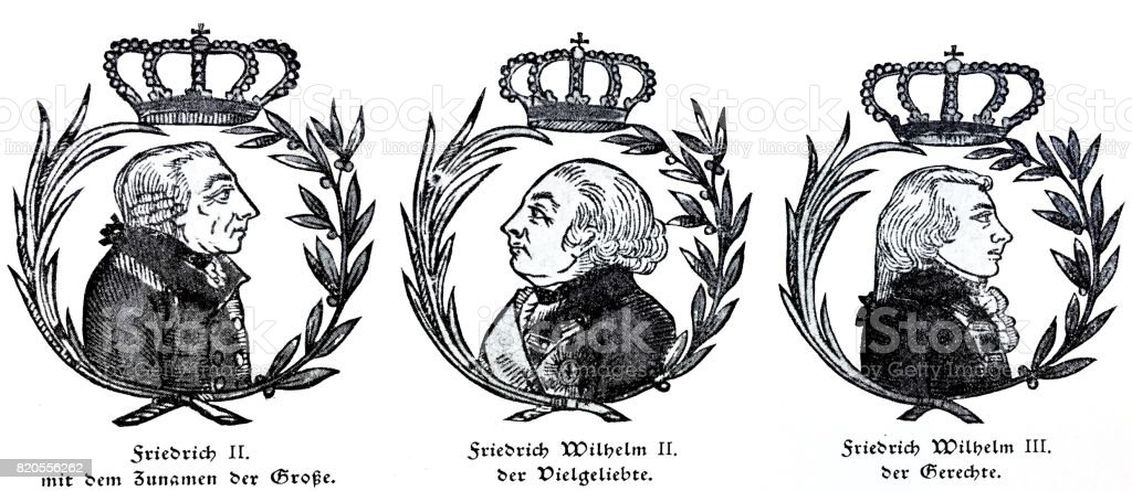 prussian kings and their names frederick the great frederich wilhelm