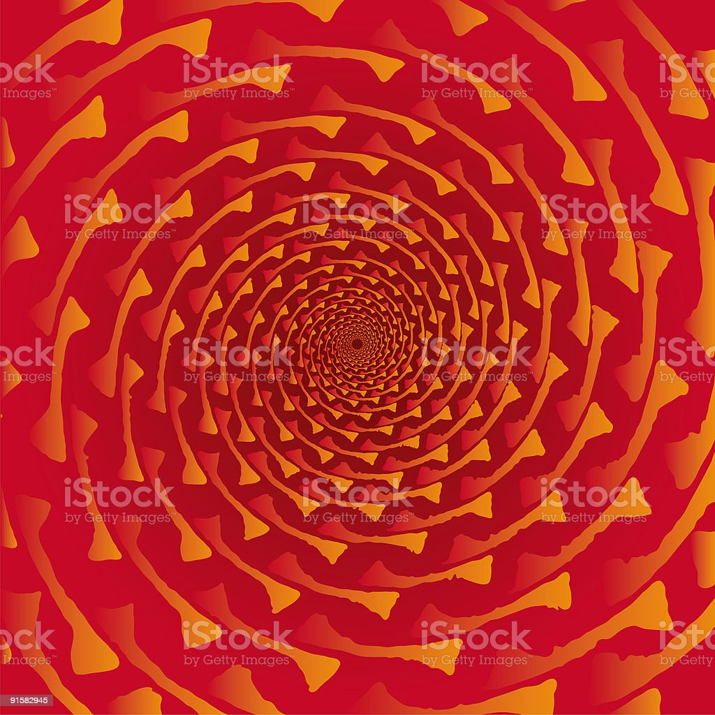 Pseudo spiral 01 royalty-free stock vector art