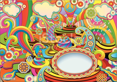 istock psychedelic background in a retro style 164494515