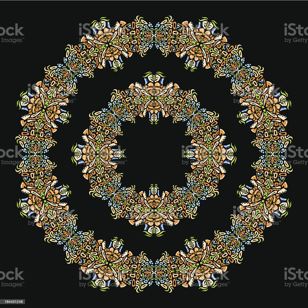 Psychedelic ornament circle royalty-free psychedelic ornament circle stock vector art & more images of art