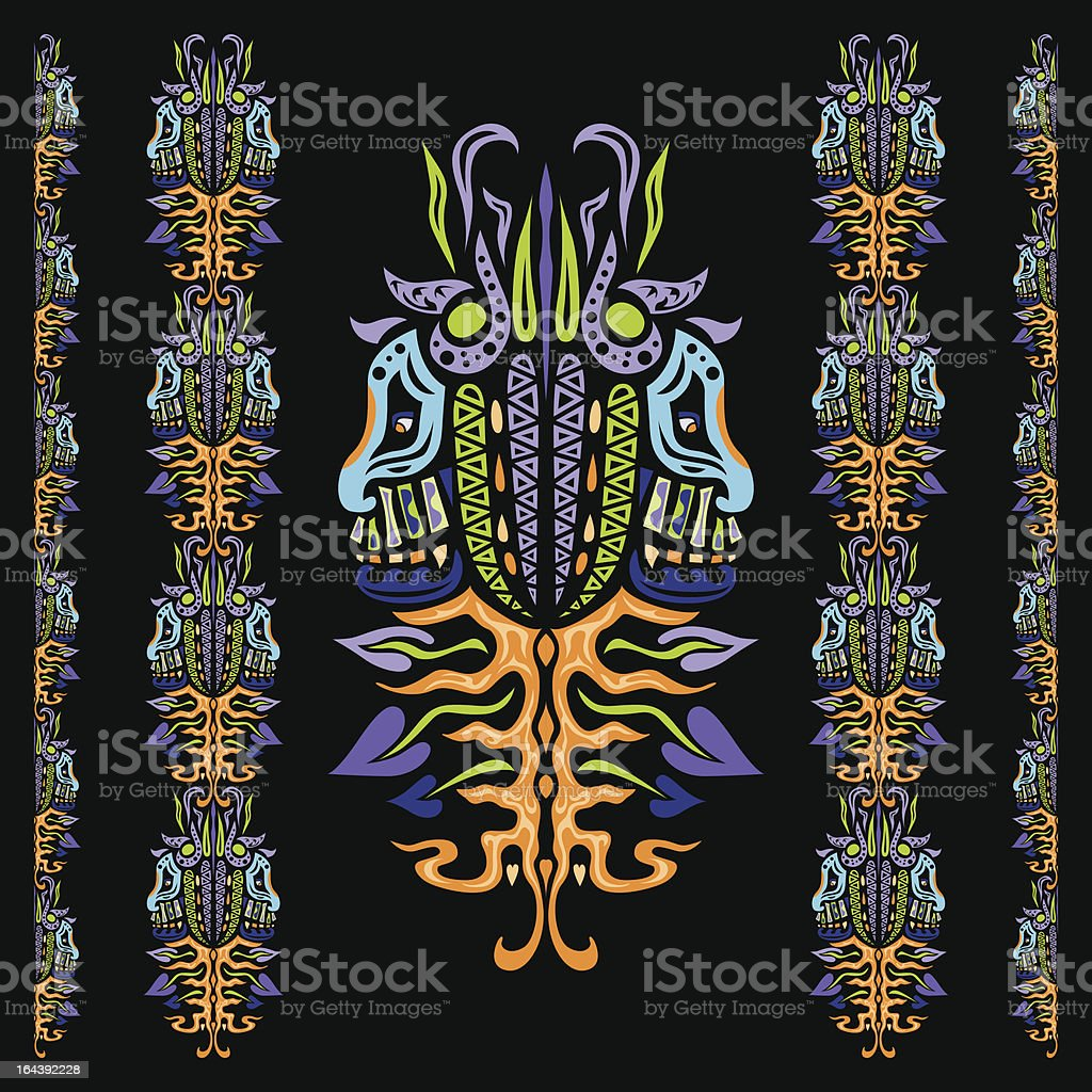 Psychedelic ornament element royalty-free psychedelic ornament element stock vector art & more images of art