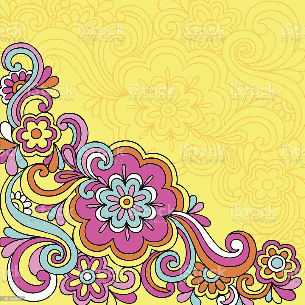 Psychedelic Swirls Notebook Doodles vector art illustration