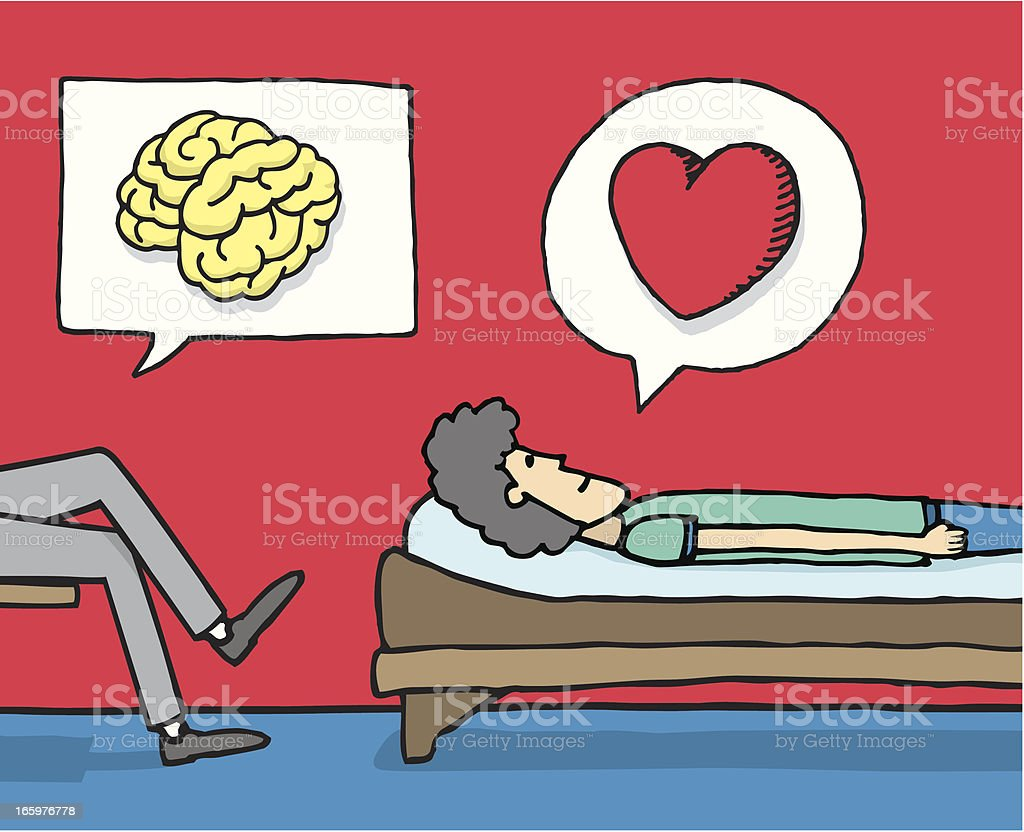 Psychology in action royalty-free stock vector art