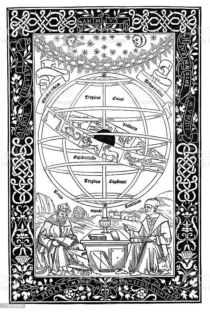 Ptolémée explique astronomie de Johannes Müller - Illustration vectorielle