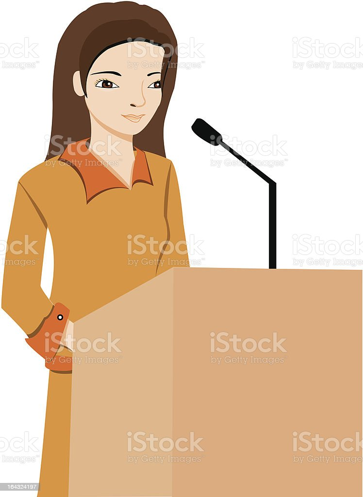public speaker profession royalty-free stock vector art