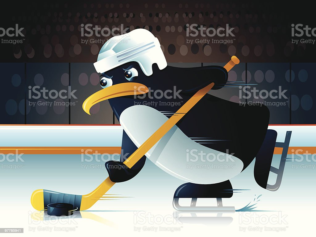 Pucky the Penguin royalty-free stock vector art