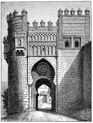 Puerta del Sol, one of the gates in Toledo, Spain