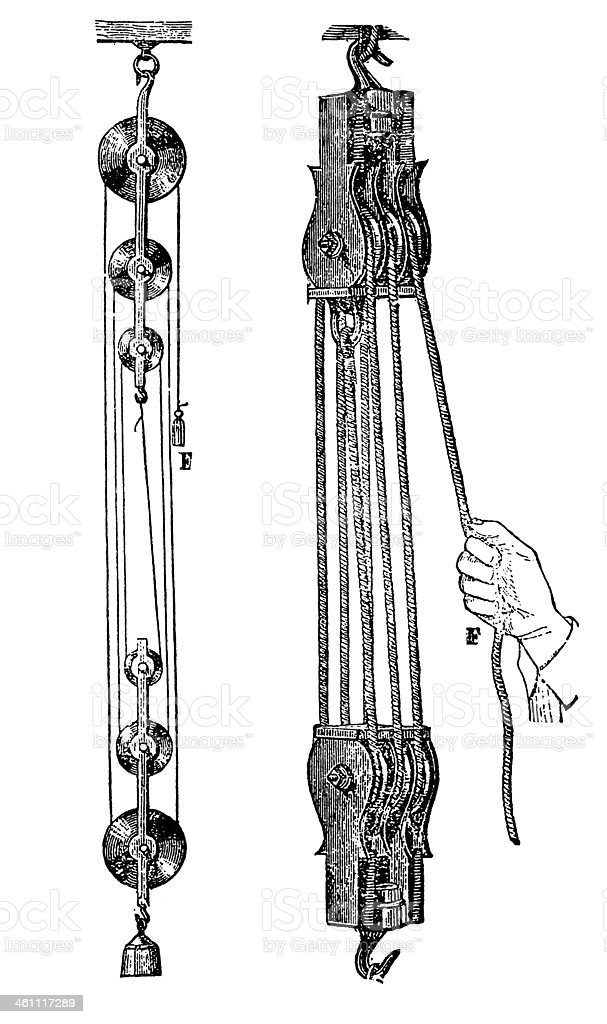 Pulley System Stock Illustration - Download Image Now - iStock