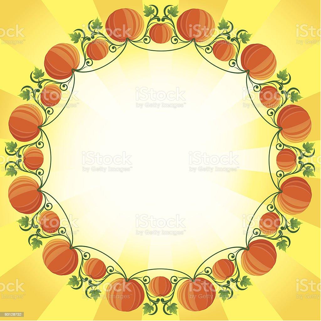 pumpkin Circle Frame royalty-free stock vector art