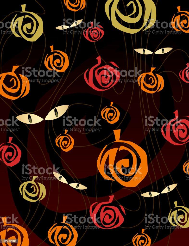 Pumpkin Patch Pattern vector art illustration