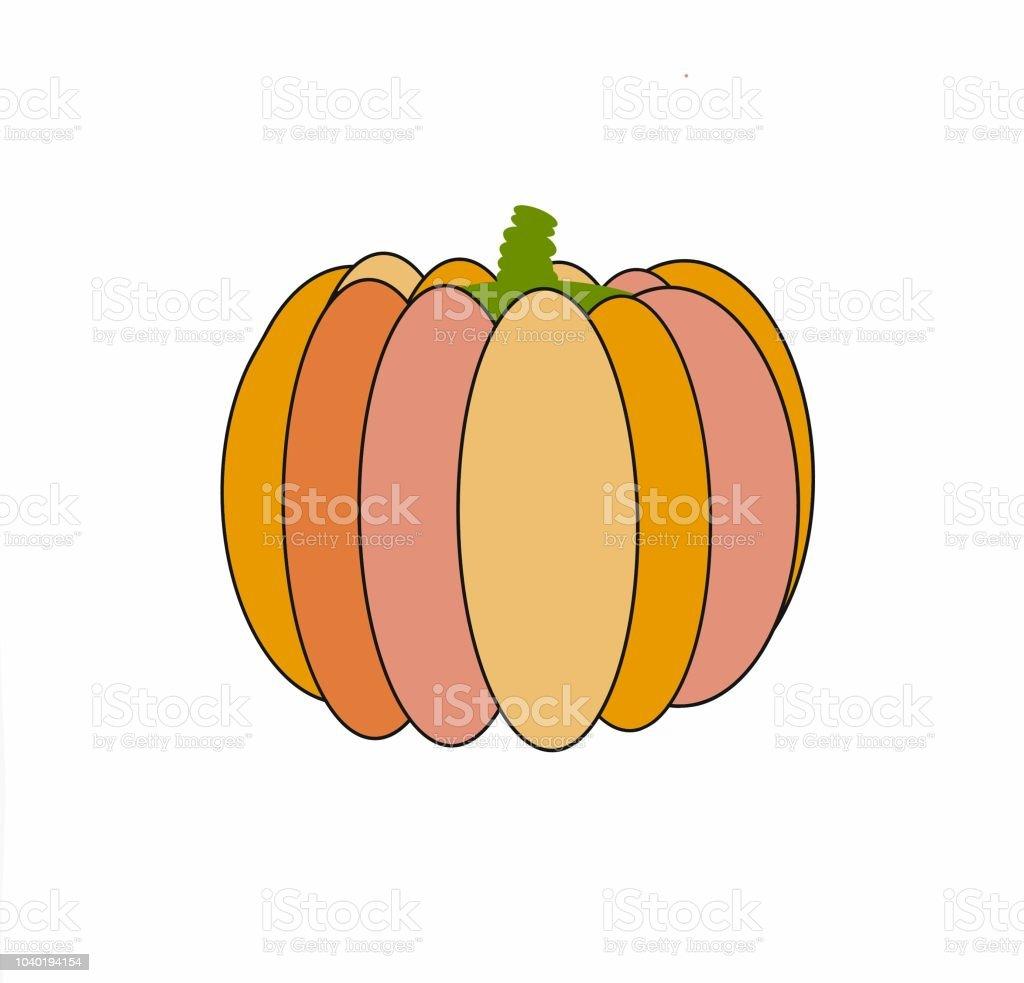 Halloween Tekeningen Pompoen.Pompoen Eenvoudige Tekening Voor De Vakantie Halloween 2d