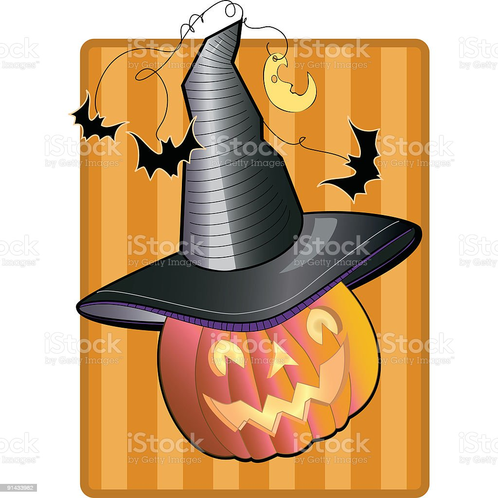 Pumpkin Witch royalty-free stock vector art