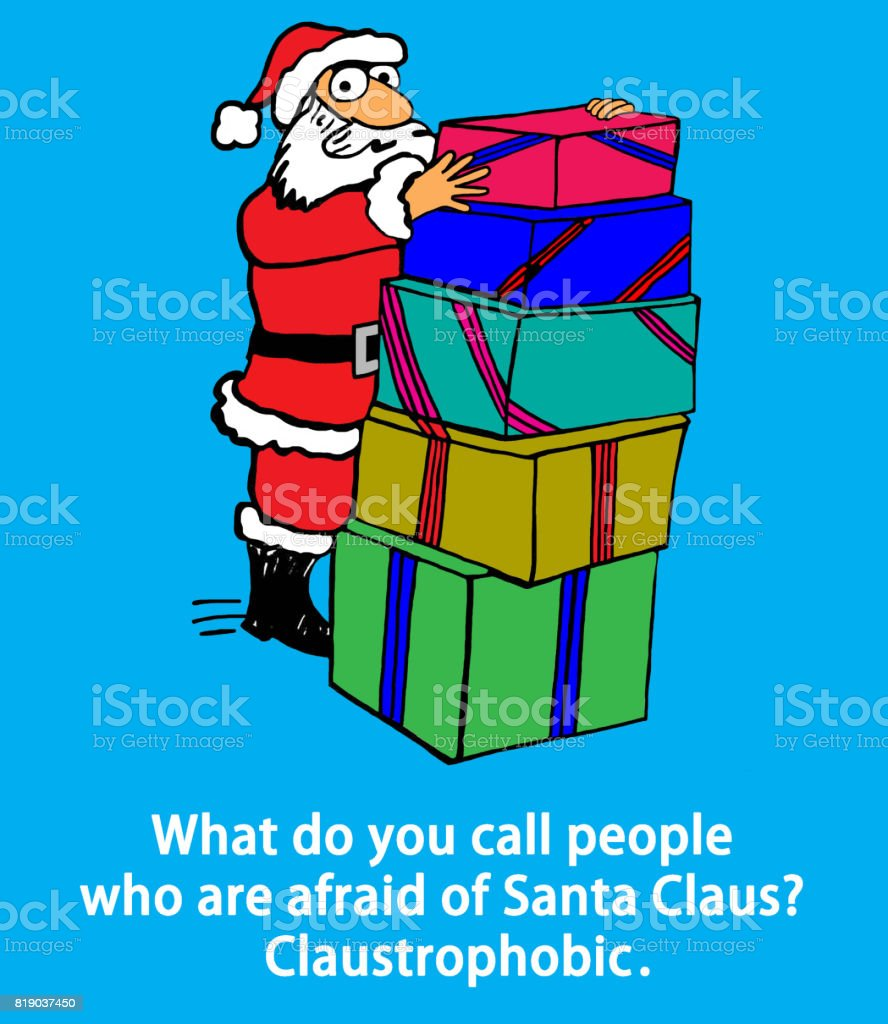 Pun About Santa Claus vector art illustration