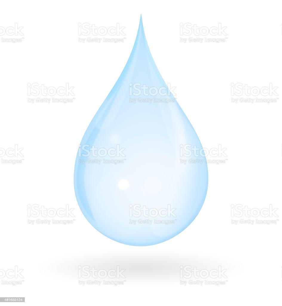 Pure Water Drop vector art illustration