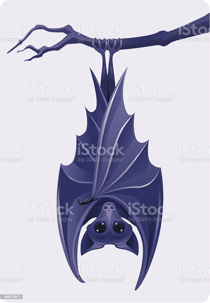 Purple bat - Royalty-free Animal Body Part stock vector