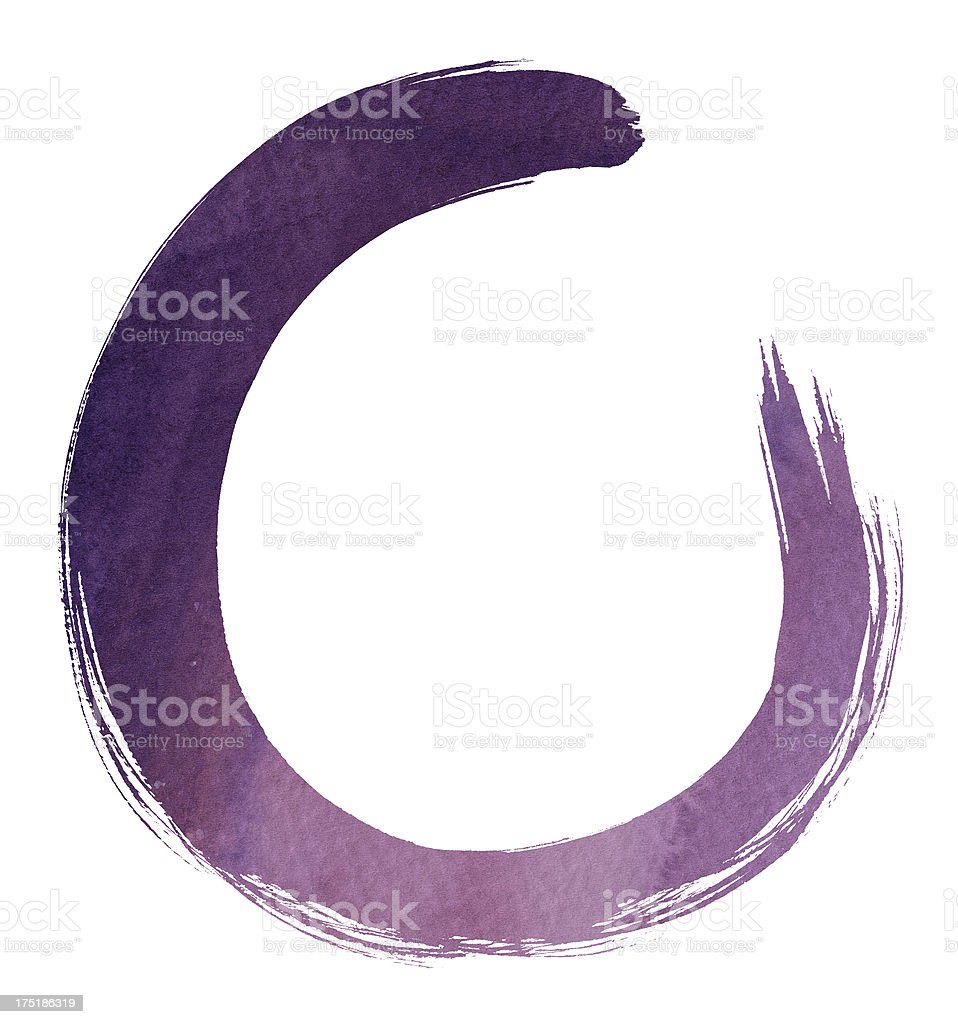 Purple Circle (Clipping Path) royalty-free stock vector art