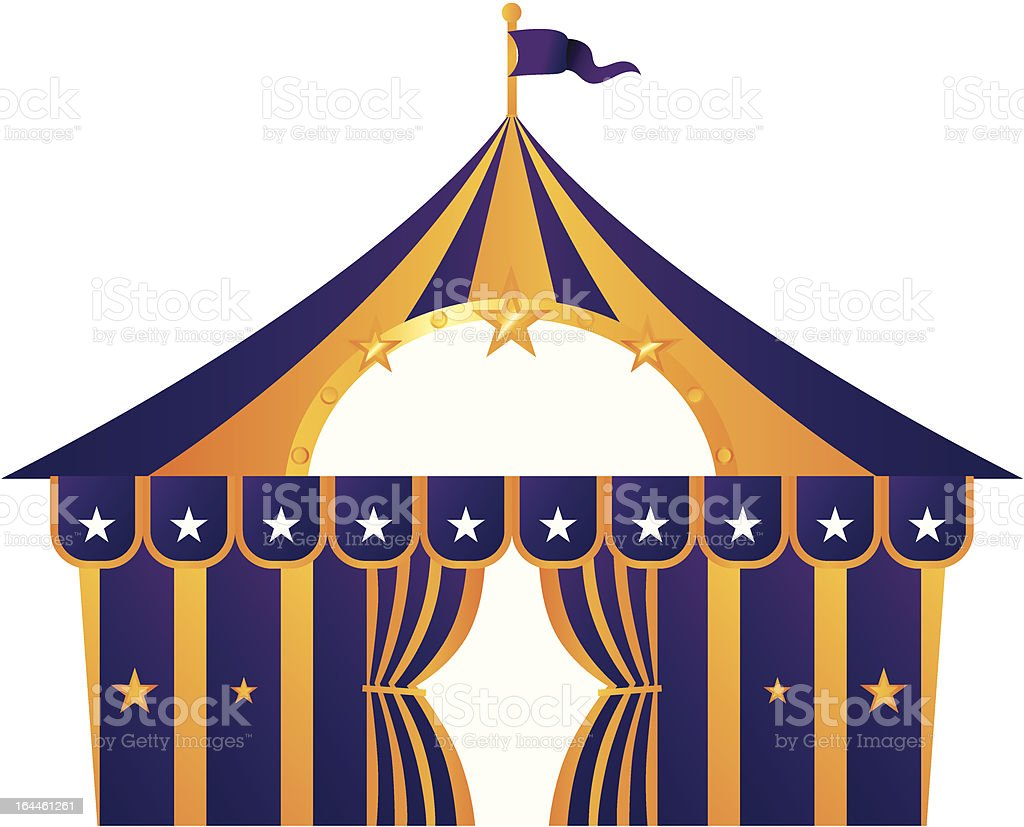 Purple circus tent isolated on white royalty-free stock vector art