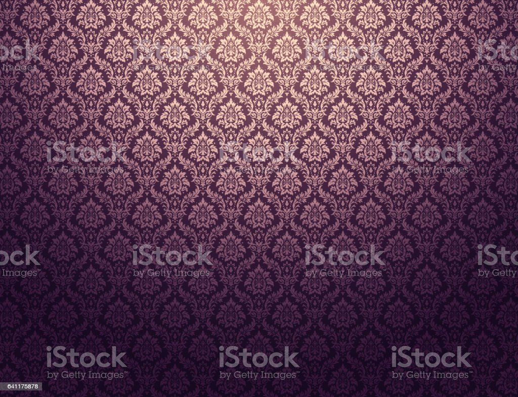 Fundo roxo do Damasco - ilustração de arte em vetor