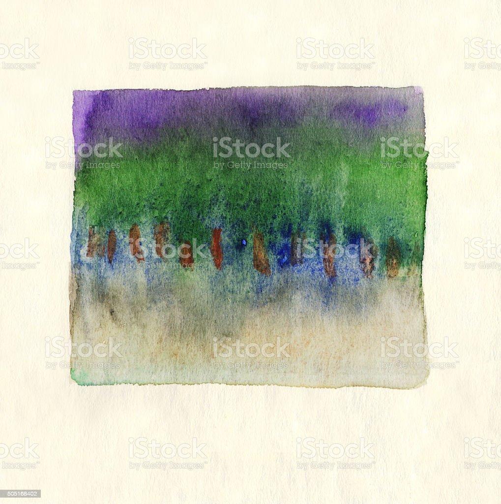 Violet Fond Aquarelle Bleu Vert Brown Peinture Abstraite Vecteurs ...