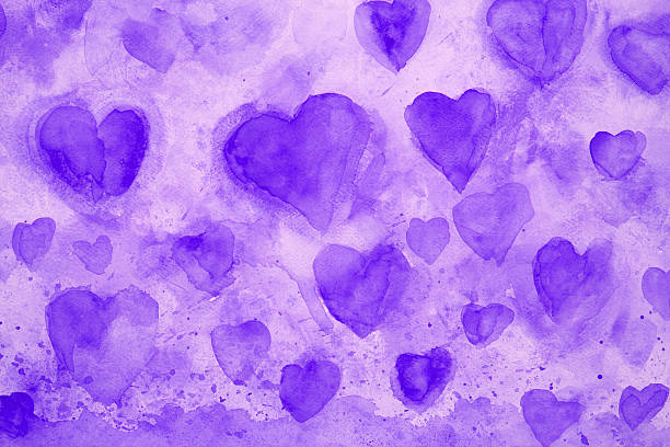 Royalty Free Purple Heart Clip Art, Vector Images ...