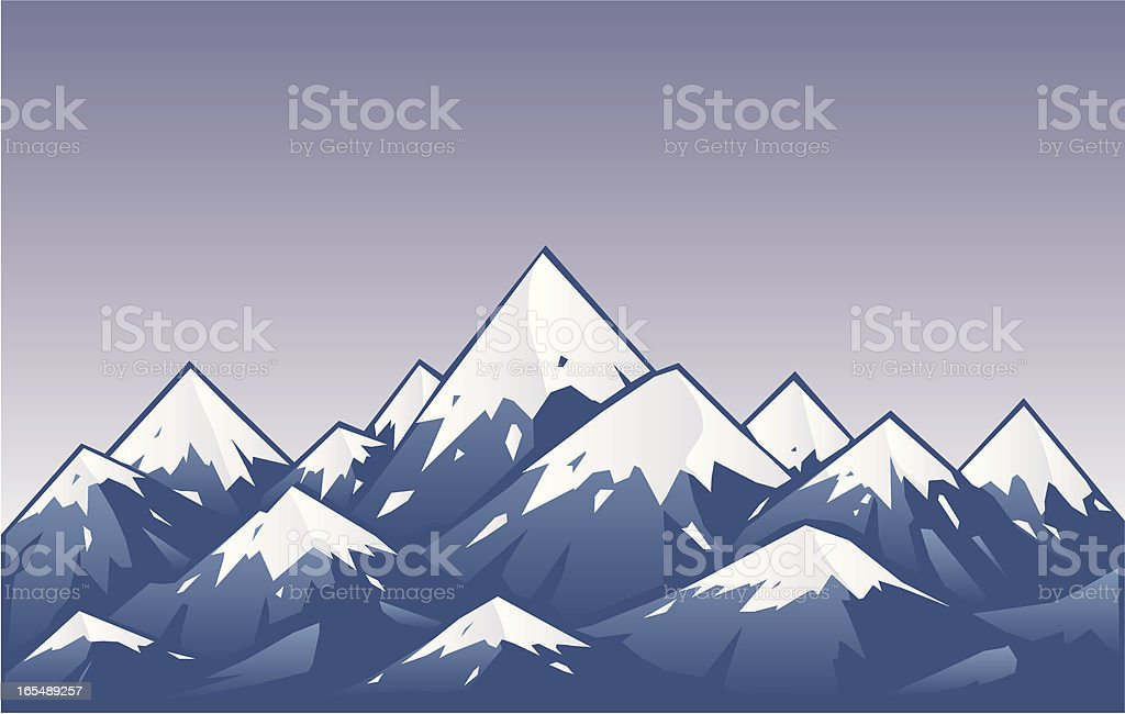 purple mountians royalty-free stock vector art
