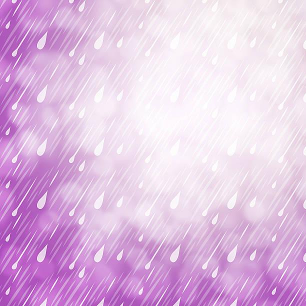 Purple Rain Background vector art illustration