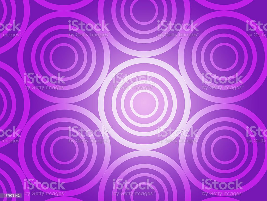 Purple Rings & Circles background royalty-free stock vector art