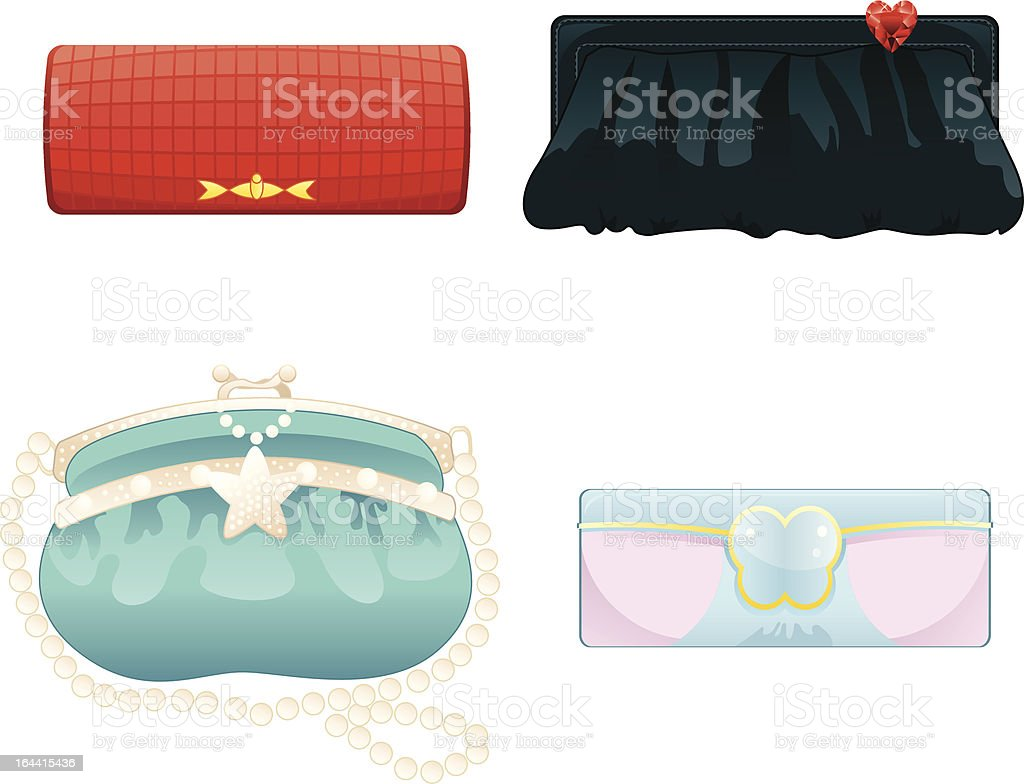 Purse vector art illustration