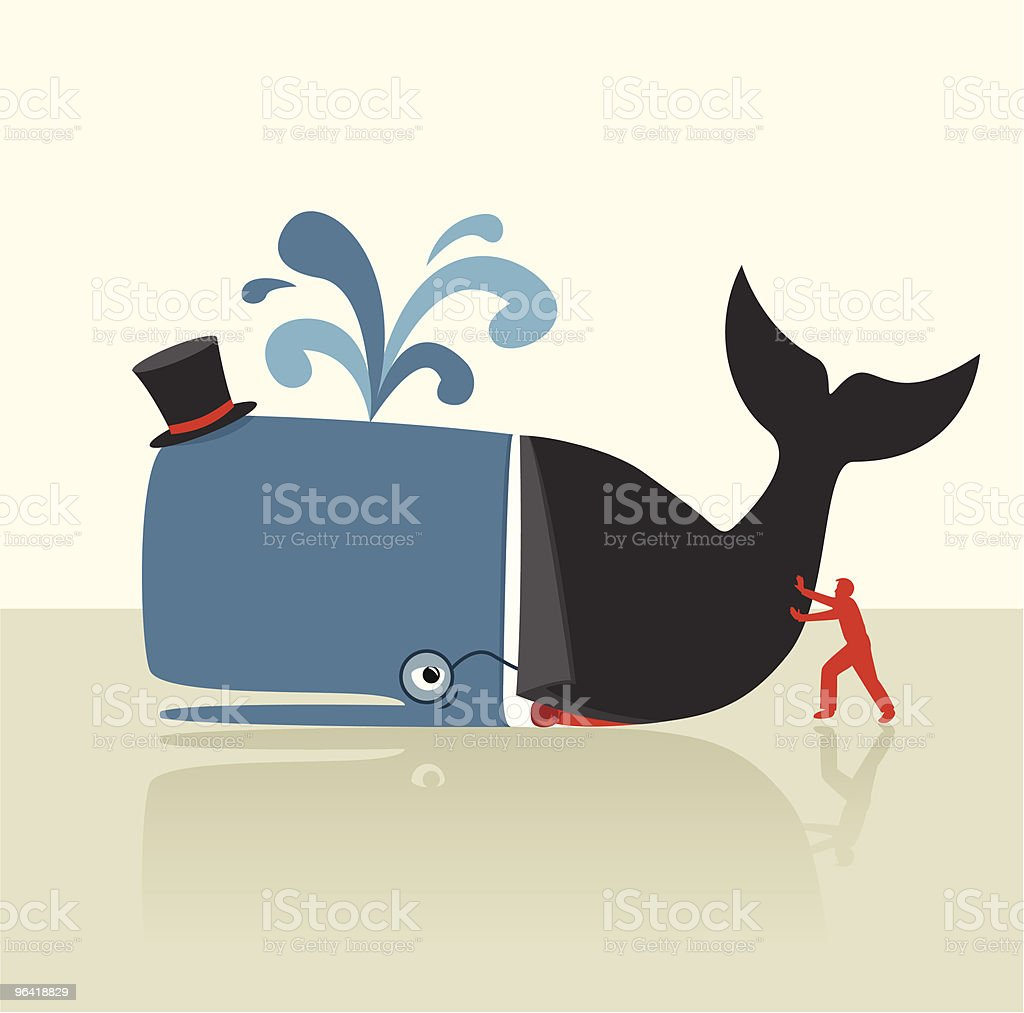 Push for Change [vector] royalty-free stock vector art