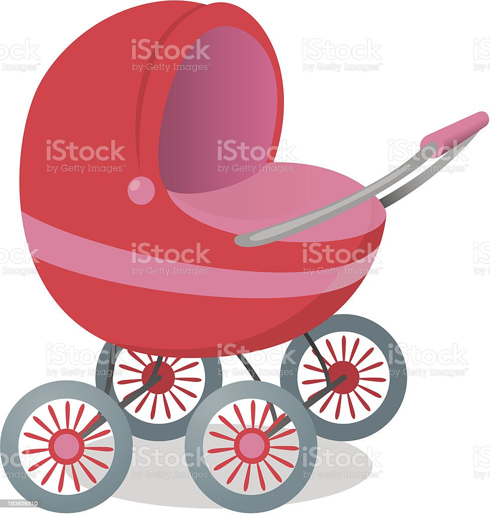 Pushchair vector art illustration