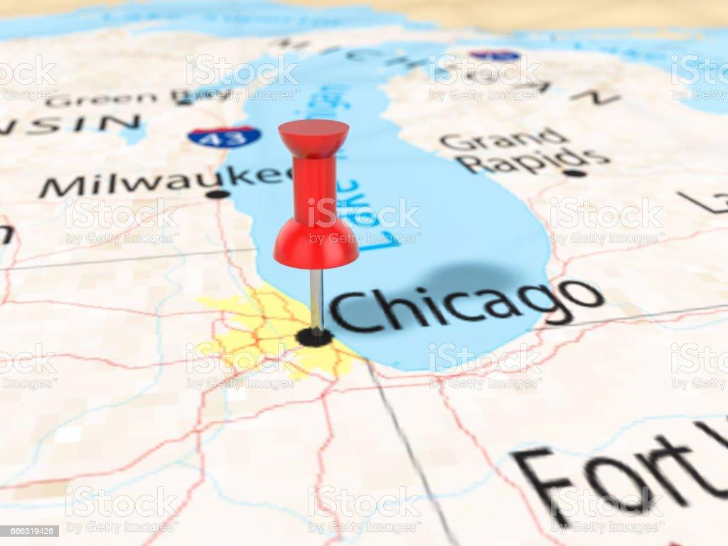 Karta Usa Chicago.Kartnalen Pa Chicago Karta Vektorgrafik Och Fler Bilder Pa