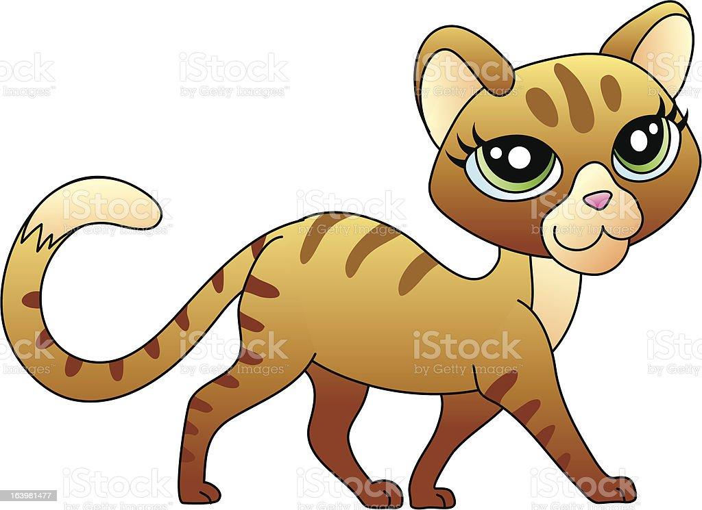Pussycat royalty-free stock vector art