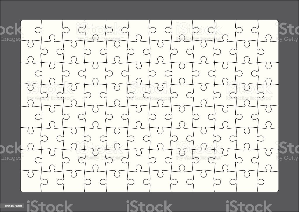 D.I.Y Puzzle royalty-free stock vector art