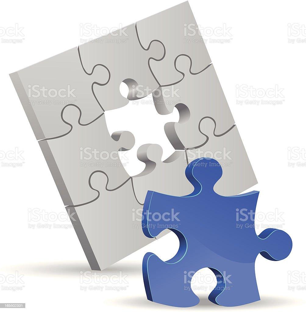 Puzzle solution vector art illustration