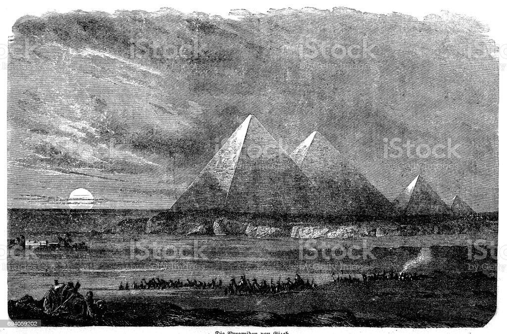 Pyramid of Giza vector art illustration
