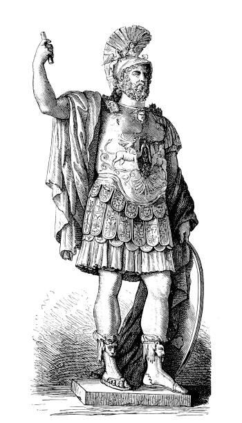 Pyrrhus Greek General  Warrior vector art illustration